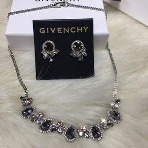 GIVENCHY 纪梵希优雅系列纪梵希水晶项链耳钉项链锁骨链套装