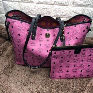 MCM双面子母购物袋