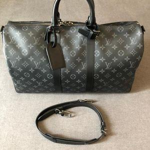 Louis Vuitton 路易·威登黑老花keepall45行李包