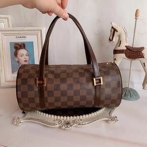Louis Vuitton 路易·威登棋盘格中号圆桶手提包