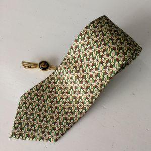 Hermès 爱马仕LD04025男士重磅真丝印花领带