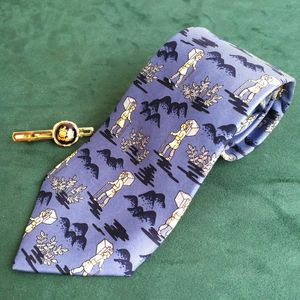 Hermès 爱马仕LD04021男士重磅真丝印花时尚领带