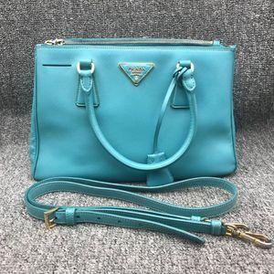 PRADA 普拉达女士蓝色单肩手提包杀手包