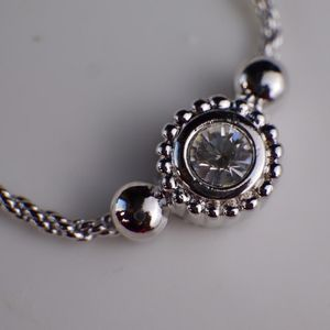 Dior 迪奥冬日的酒窝银色项链