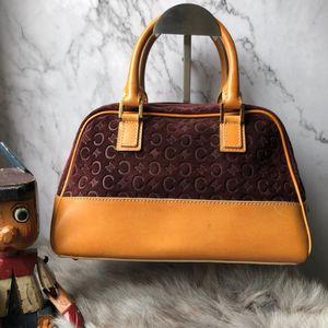 Celine 赛琳中古vintage麂皮手提包