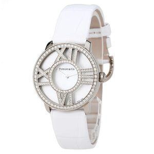 Tiffany & Co. 蒂芙尼贝母18K白金钻石石英女表