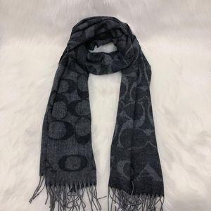 COACH 蔻驰灰色羊毛围巾