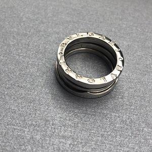 BVLGARI 宝格丽Zero1系列白金戒指