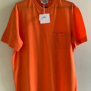 Hermès 爱马仕橘色T恤