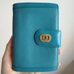 BVLGARI 宝格丽湖蓝色钱包