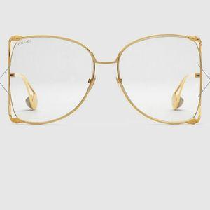 GUCCI 古驰女大框镂空切边珍珠款眼镜