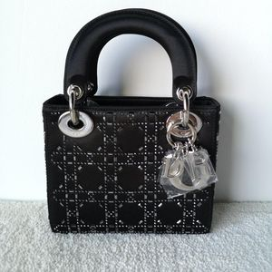Dior 迪奥水钻三格晚宴手提包
