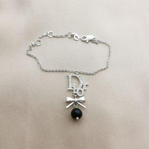 Dior 迪奥水钻中古经典字母手链