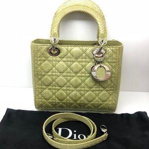 Dior迪奥五格蛇皮戴妃包