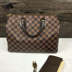 Louis Vuitton 路易·威登sp30棕棋盘格手提包