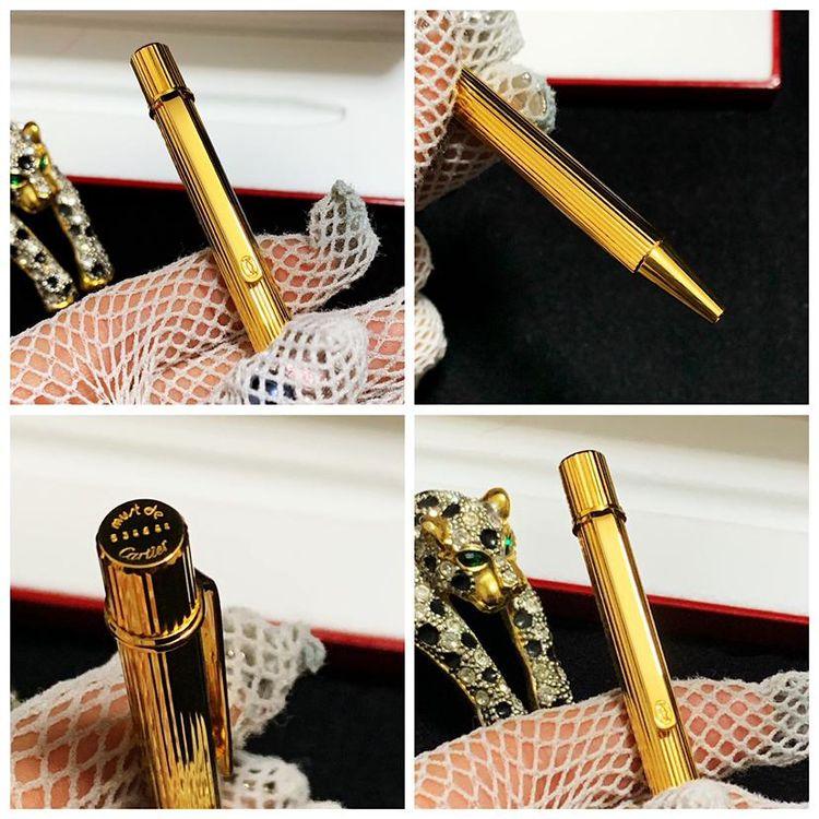 Cartier 卡地亚重工镀金签字笔