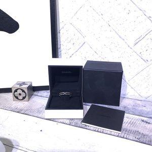 CHANEL 香奈儿18k白金陶瓷戒指
