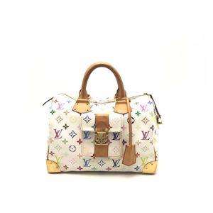 Louis Vuitton 路易·威登白三彩手提波士顿手提包