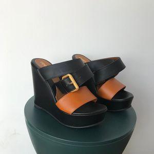 FENDI 芬迪女士坡跟凉鞋