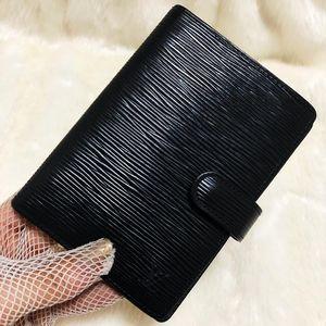 Louis Vuitton 路易·威登黑水波纹牛皮笔记本