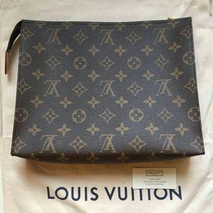 Louis Vuitton 路易·威登老花洗漱包手包