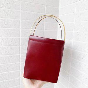 Cartier 卡地亚酒红三环手提包
