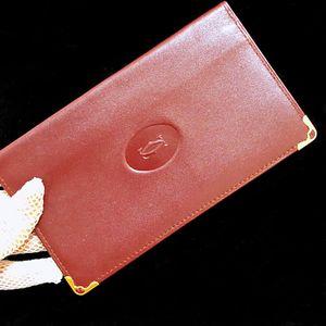 Cartier 卡地亚波尔多红全皮护照夹证件套