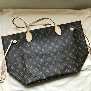 Louis Vuitton 路易·威登NF老花中号裸色内中号子母购物袋