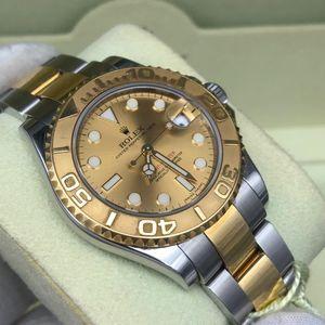 Rolex 劳力士游艇名仕金色盘面自动机械腕表