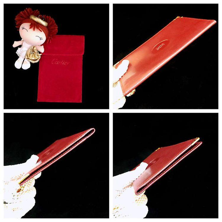Cartier 卡地亚波尔多红全皮护证件套