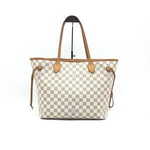 Louis Vuitton 路易·威登白色nf棋盘格手提包