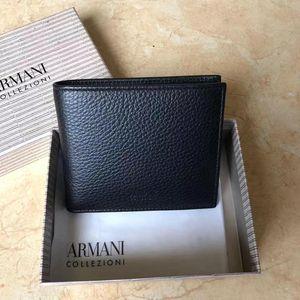 ARMANI 阿玛尼男士短款钱包