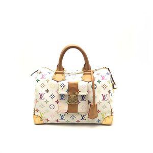 Louis Vuitton 路易·威登白三彩波士顿手提包