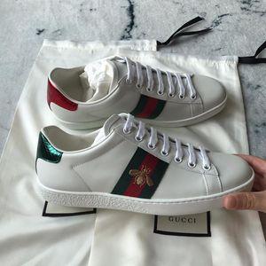 GUCCI 古驰鸳鸯尾蜜蜂白色休闲鞋