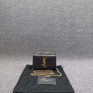 Yves Saint Laurent 伊夫·圣罗兰黑色链条单肩斜挎包