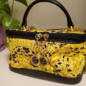 Versace 范思哲中古化妆手提包