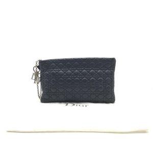 Dior 迪奥黑色全皮手包