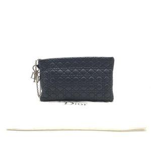 Dior 迪奥黑色全皮手拿包