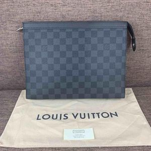Louis Vuitton 路易·威登黑色棋盘格手拿包