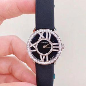 Tiffany & Co. 蒂芙尼阿特拉斯系列白金原钻女士石英表