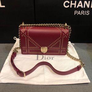 Dior Diorama铆钉款单肩包