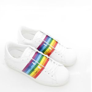 Valentino 华伦天奴男士彩虹真皮休闲鞋