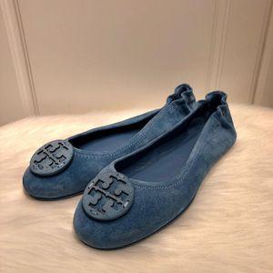 Tory Burch 托里·伯奇磨砂绒面芭蕾舞软底休闲鞋