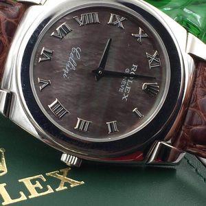 Rolex 劳力士切利尼18K白金机械表