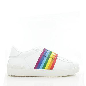 Valentino 华伦天奴男士彩虹真皮小白鞋低帮鞋休闲鞋