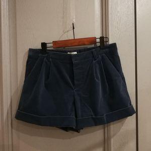 Miu Miu 缪缪复古蓝条绒短裤