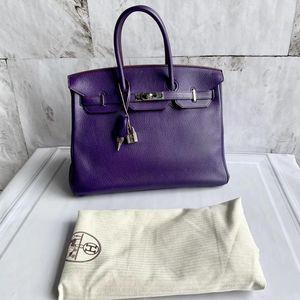 Hermès 爱马仕鸢尾紫birkin35手提包