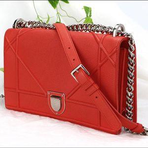 Dior 迪奥橘红色手提包
