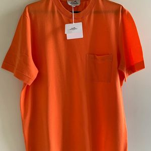 Hermès 爱马仕橘色T恤 L码