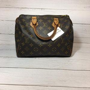 Louis Vuitton 路易·威登speedy25老花波士顿手提包